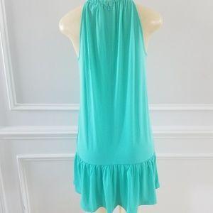 Michael Kors Dresses - Green midi halter dress
